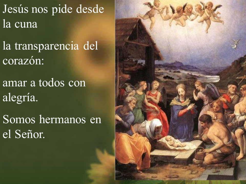 Cantando con alegría porque es Navidad el pueblo de Dios camina con gozo al portal.
