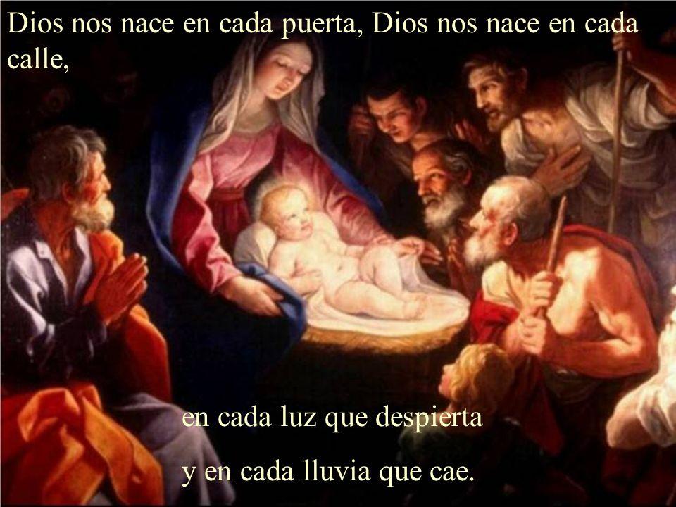 Dios nos nace en cada hombre, Dios nos nace a cada instante en cada rostro que nombre y en cada niño que nace.