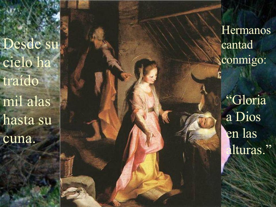 Hermanos, Dios ha nacido sobre un pesebre, Aleluya.