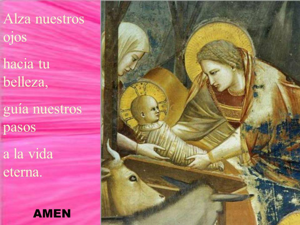 Eres, Virgen Madre, la de gracia llena, del Señor la esclava del mundo la reina.