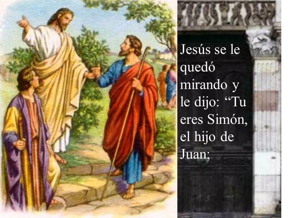 Y lo llevó a Jesús.