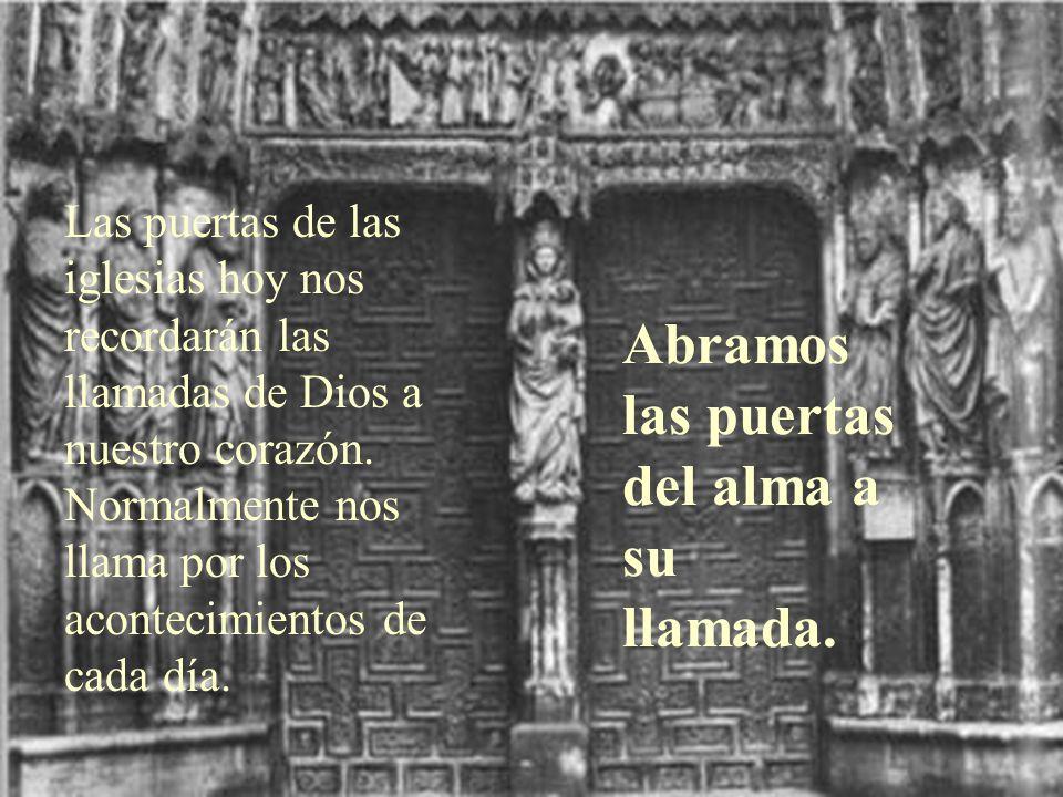 Hoy es el domingo de la LLAMADA del Señor Jesús llama a sus dos primeros discípulos. También nos llama a nosotros a una vida cristiana o de mayor entr