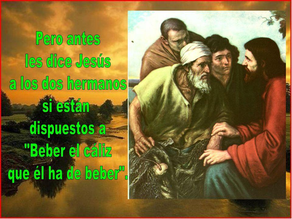 Jesús les dice, a ellos y a nosotros, que en este reino lo mejor es servir, estar a disposición de los demás.