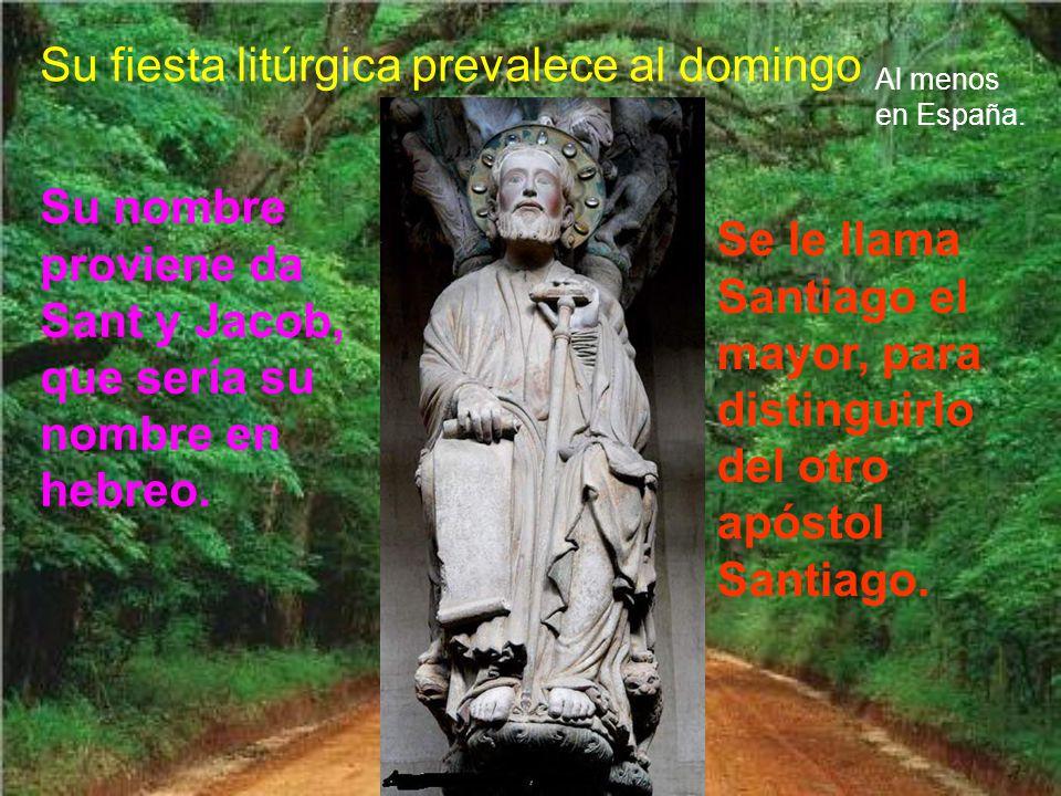 Su fiesta litúrgica prevalece al domingo Al menos en España.