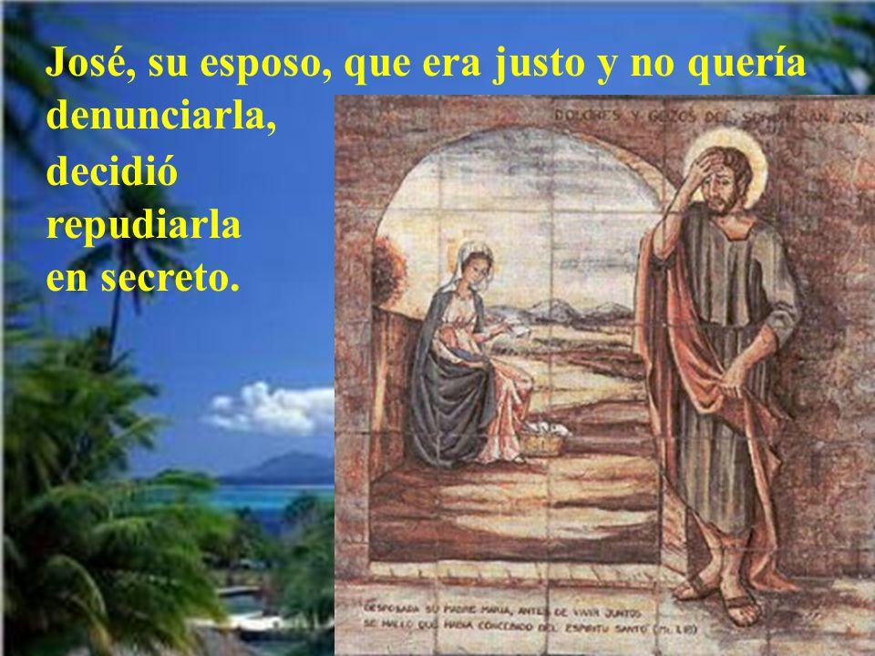 El nacimiento de Jesucristo fue de esta manera: María su madre, estaba desposada con José y, antes de vivir juntos, resultó que ella esperaba un hijo