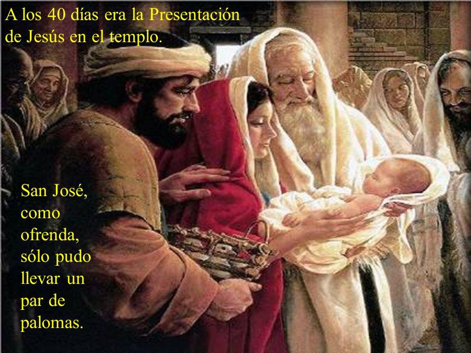 A los ocho días era la Circunci- sión. San José, como padre, debía señalar el nombre del Niño.