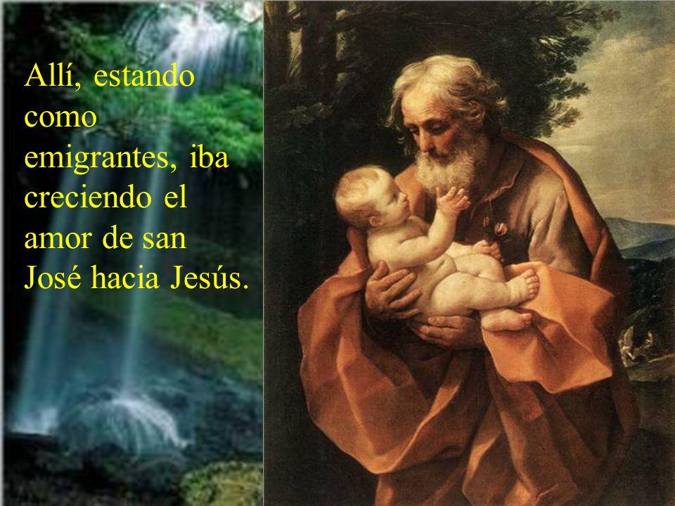 Con grandes dificultades, pero puestos en las manos de Dios, José, María y Jesús fueron a Egipto.