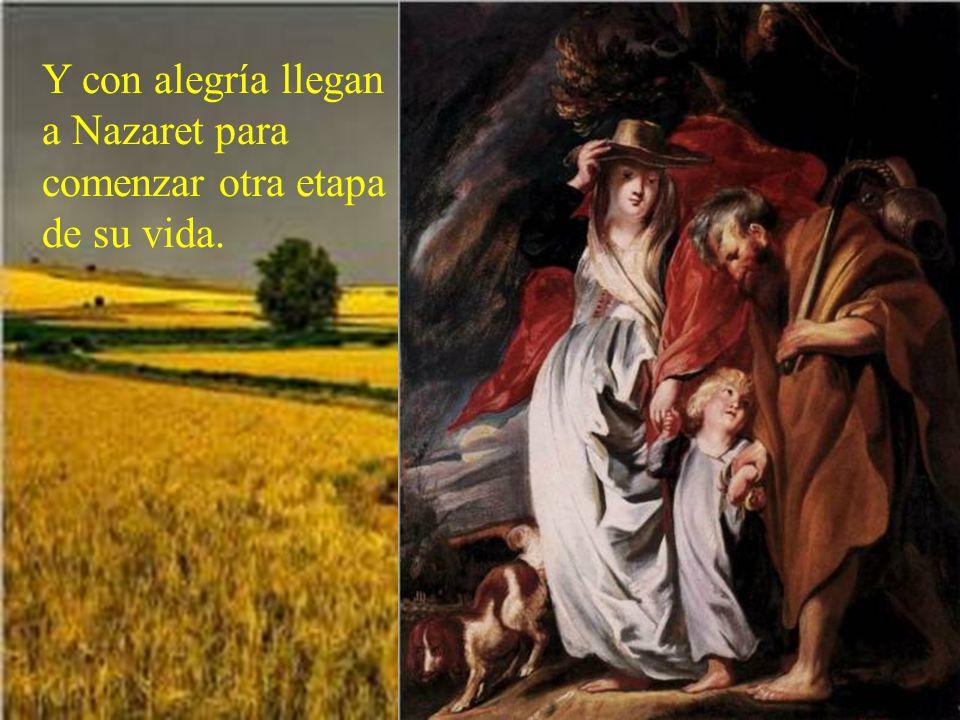Un ángel le anuncia de nuevo a José que debe volver a su tierra. Había muerto Herodes.