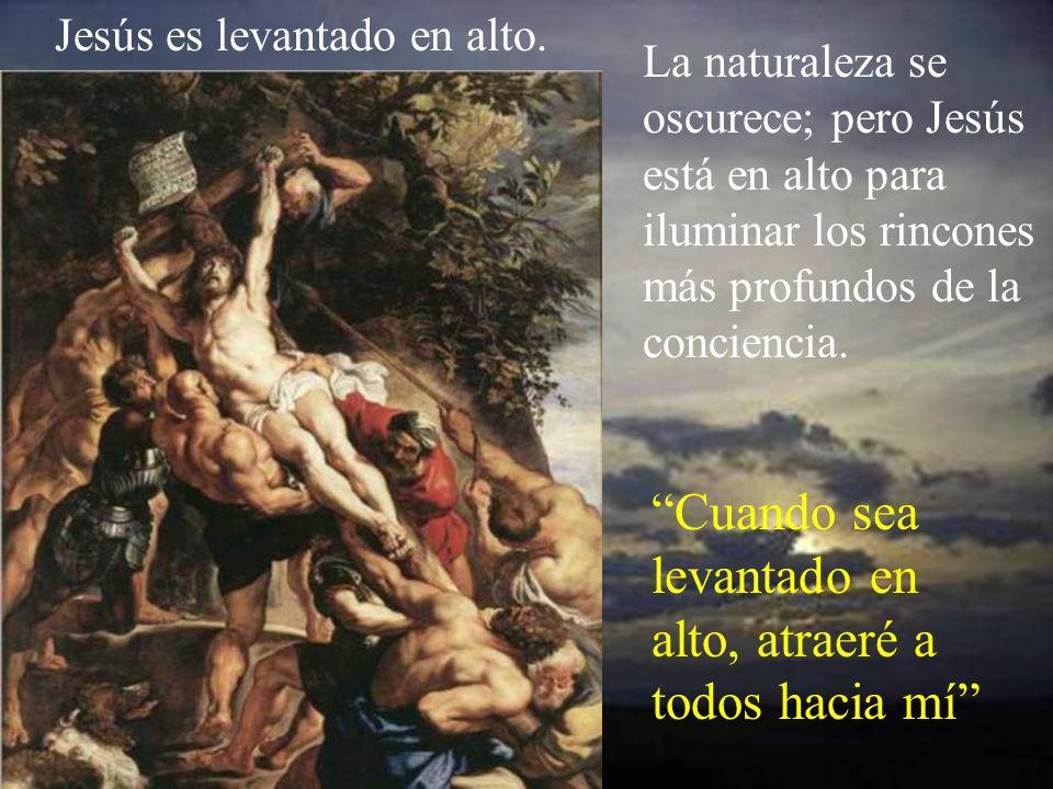 Jesús es clavado en la cruz, mientras dice: Padre, perdónales, porque no saben lo que hacen.