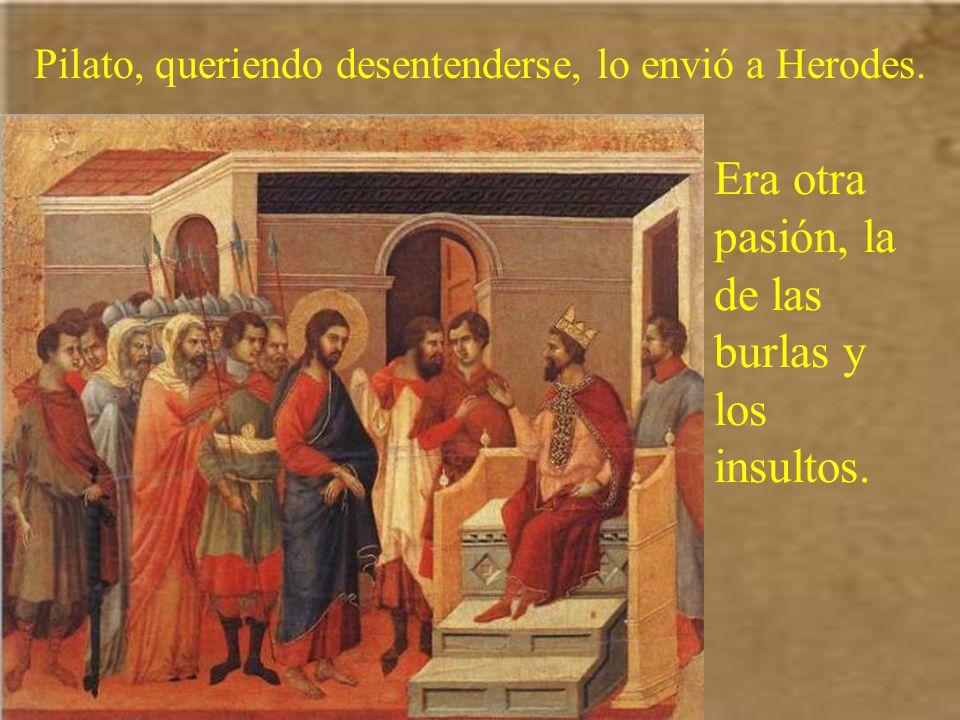 Jesús había sido condenado por el Sanedrín; pero las autoridades judías querían la muerte en la cruz. Por eso, cuando se hizo de día, lo llevaron a Pi