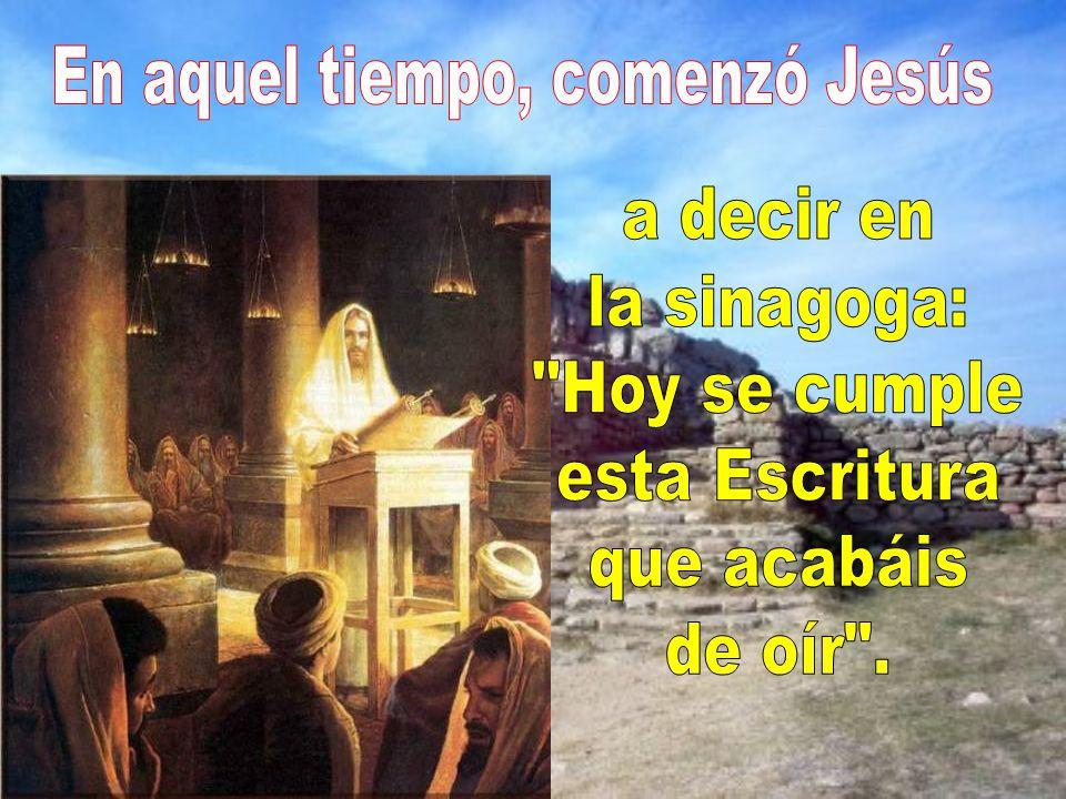 Jesús ha explicado al profeta Isaías, aplicándolo al momento actual.
