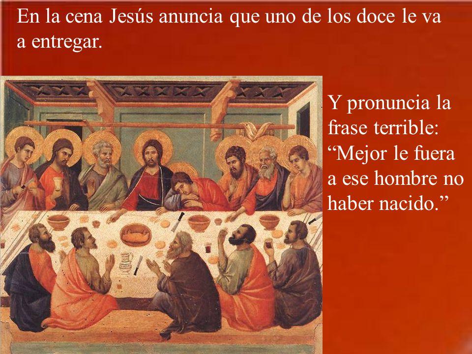 Jesús mismo toma la iniciativa en la preparación de la última cena. Manda a dos discípulos a preparar la sala. Debían seguir a un hombre que llevaba u