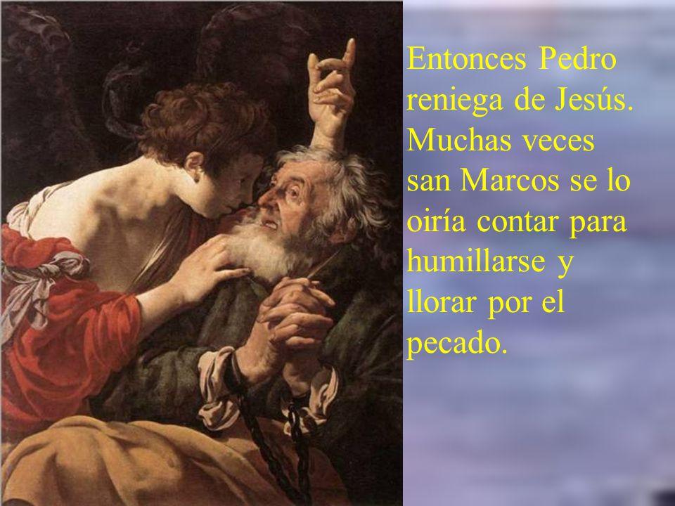 Jesús es llevado ante el sanedría. Caifás condenando a Jesús, rasga hipócritamente sus vestiduras.