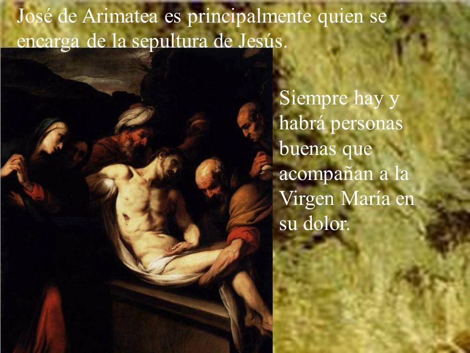 Jesús muere en la cruz, insultado por unos y acompañado con amor por un grupo de mujeres.