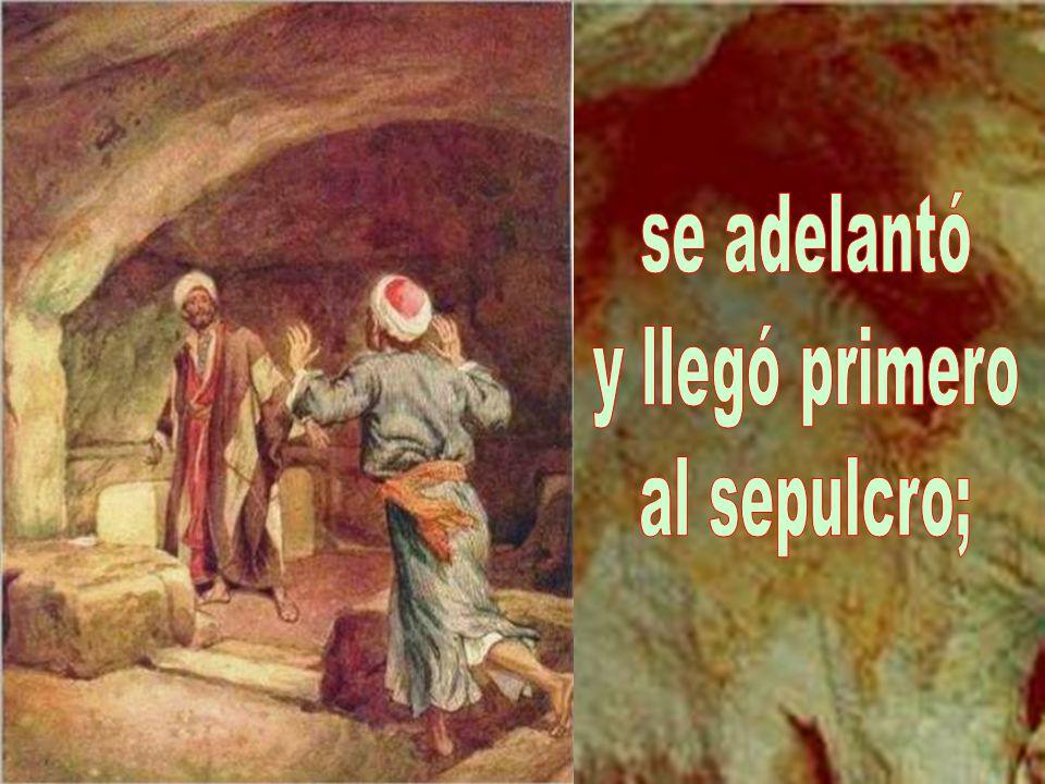 Salieron Pedro y el otro discípu- lo camino del sepulcro.