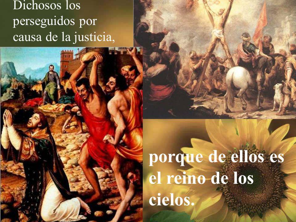 Dichosos los que trabajan por la paz, porque ellos se llama- rán los hijos de Dios.