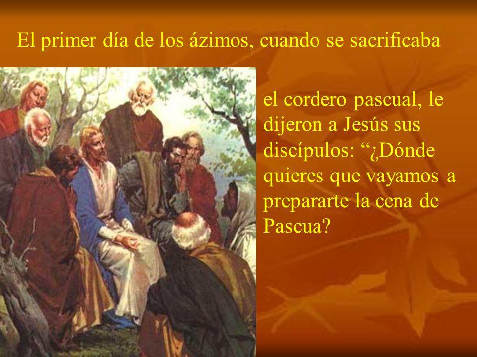 En este año, que es del ciclo B, el evangelio nos narra la institución de la Eucaristía, según el evangelista san Marcos.