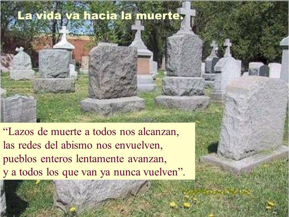 La vida va hacia la muerte.