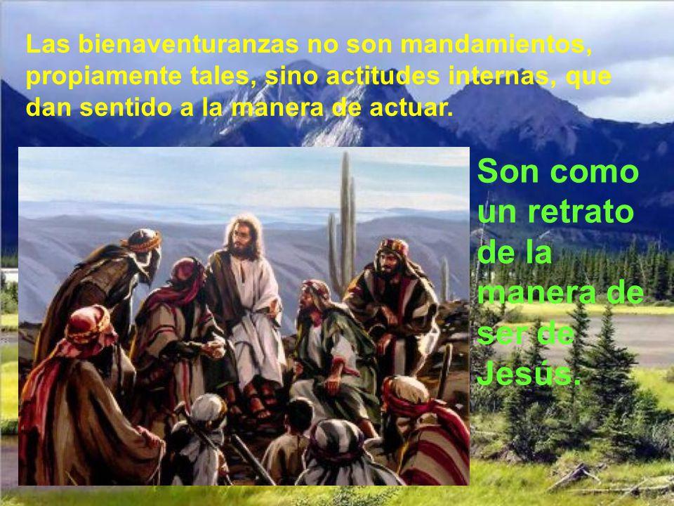 Dichosos los pobres en el espíritu, porque de ellos es el reino de los cielos. Dichosos los que lloran, porque ellos serán consolados. Dichosos los su