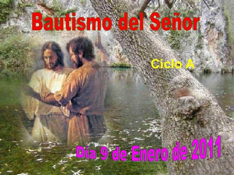 Y vino una voz del cielo que decía: Éste es mi hijo, el amado, mi predilecto. Palabra del Señor