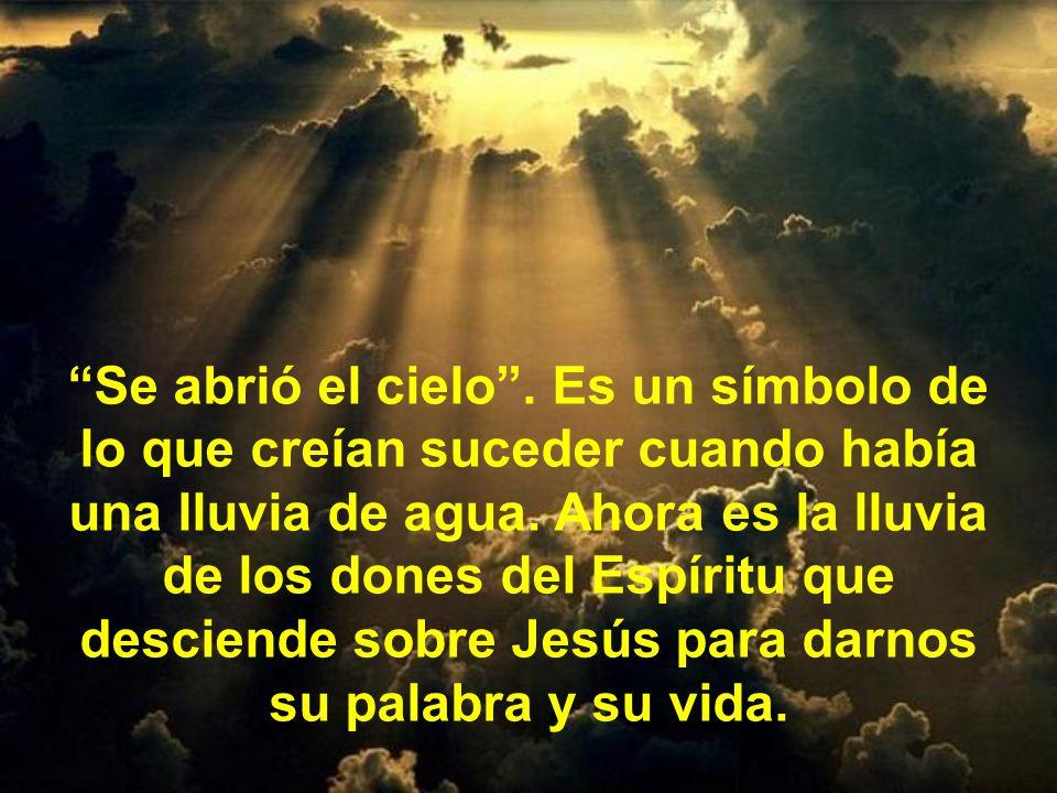 Lo más importante es lo que pasó después: Como hombre fue ungido por el Espíritu Santo: le llena, le inunda.