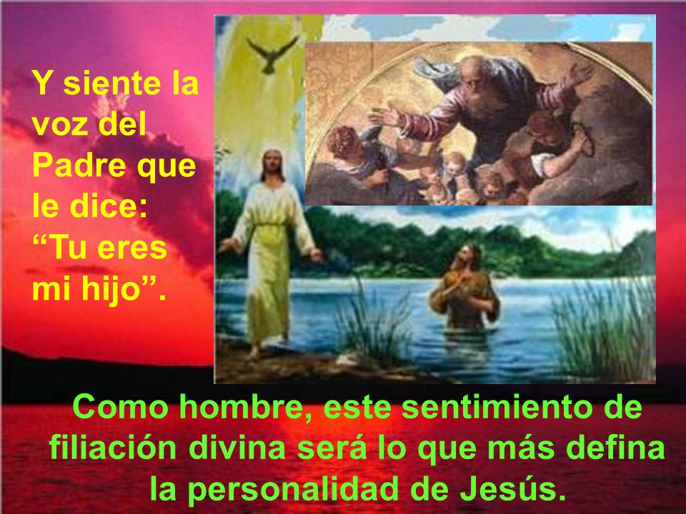 Bajó el Espíritu de Dios como una paloma.(como el vuelo de una paloma).