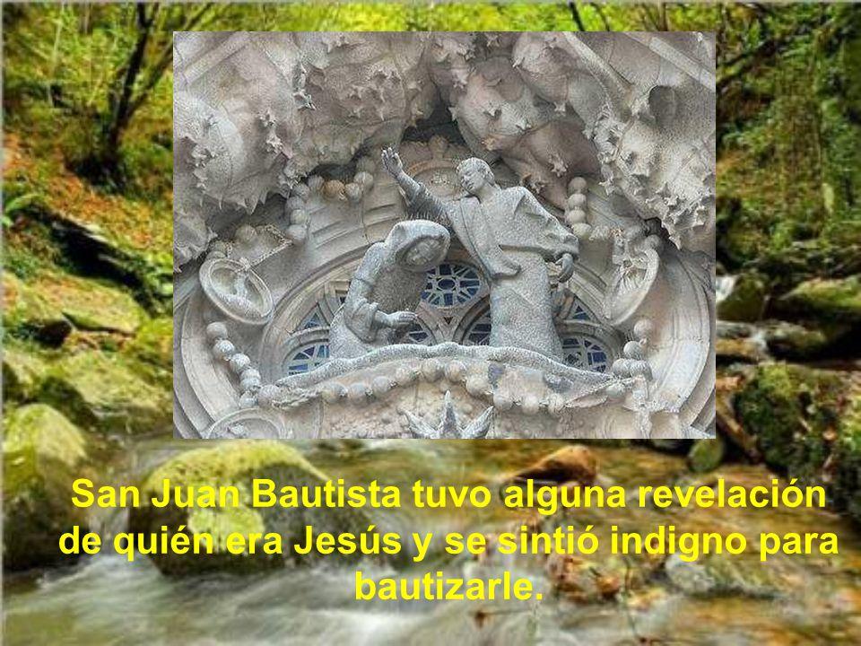 San Juan Bautista tuvo alguna revelación de quién era Jesús y se sintió indigno para bautizarle.