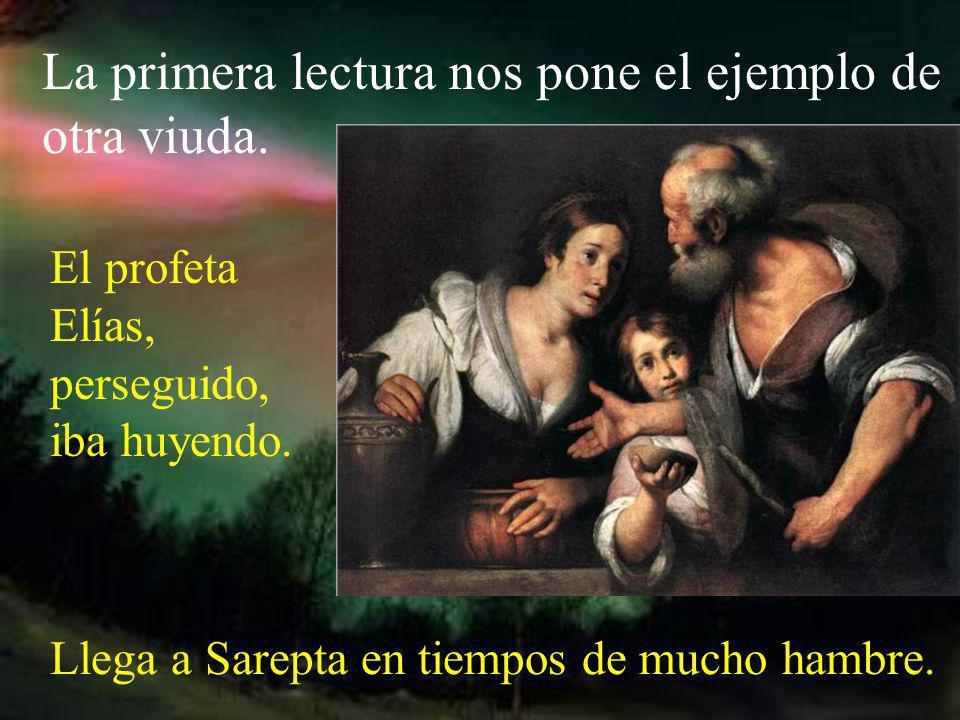 Cuando nos dice que la viuda da todo lo que tiene para vivir, nos quiere decir que hace un don total para Dios: la propia vida.