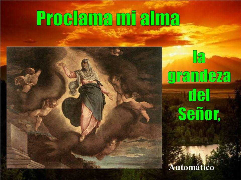 por la alegría de que María es llevada en cuerpo y alma al cielo.