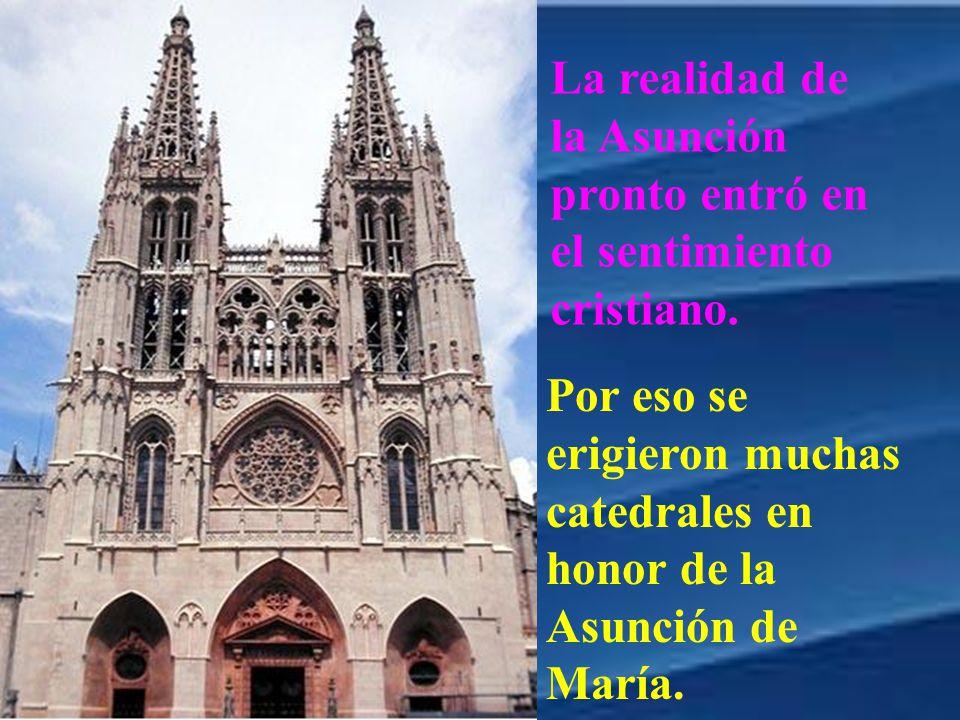 Por eso se erigieron muchas catedrales en honor de la Asunción de María.