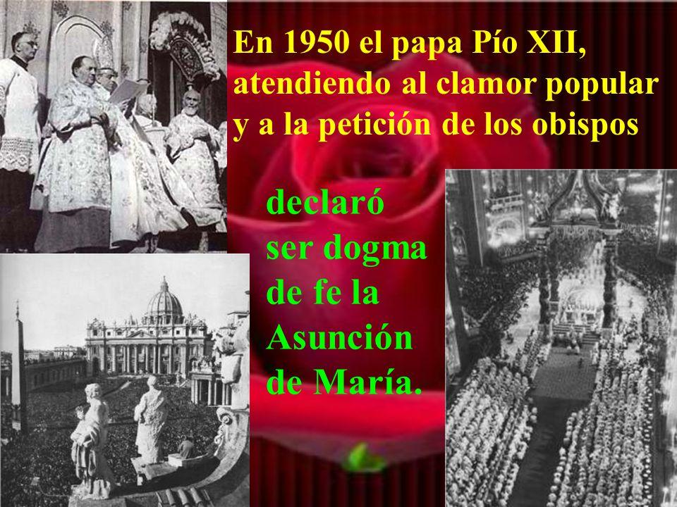Por eso se erigieron muchas catedrales en honor de la Asunción de María. La realidad de la Asunción pronto entró en el sentimiento cristiano.