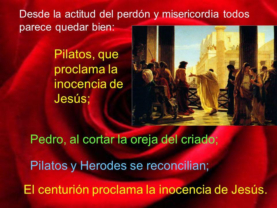 Esa presencia de la misericordia del Padre la experimenta en el huerto de Getsemaní por medio del ángel que le consuela.