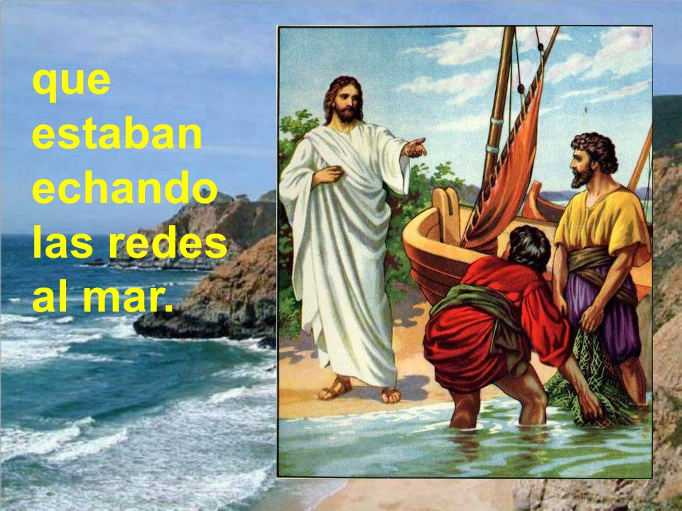 Paseando por el mar de Galilea, vio a dos hermanos, a Pedro y Andrés.