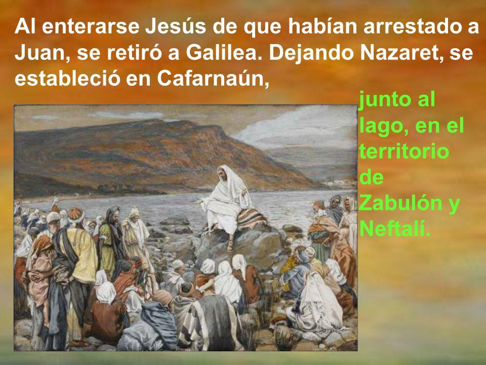 El evangelio de este día, como ciclo A, es de san Mateo. Mt 4, 12-23 Dice así: