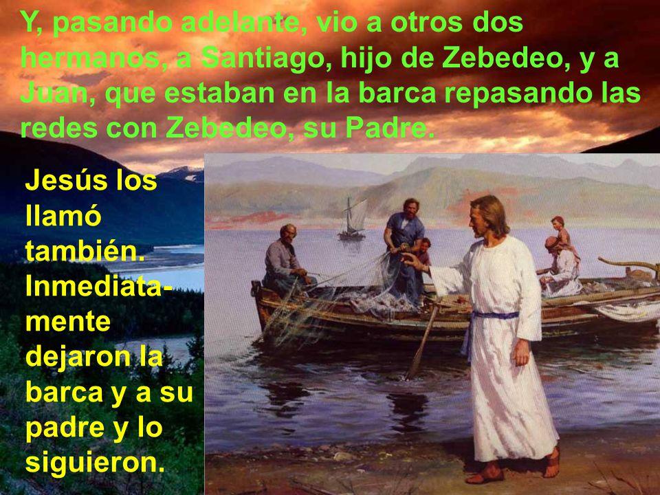 Pasando junto al lago de Galilea, vio a dos hermanos, a Simón, al que llaman Pedro, y a Andrés, su hermano, que estaban echando el copo en el lago, pu