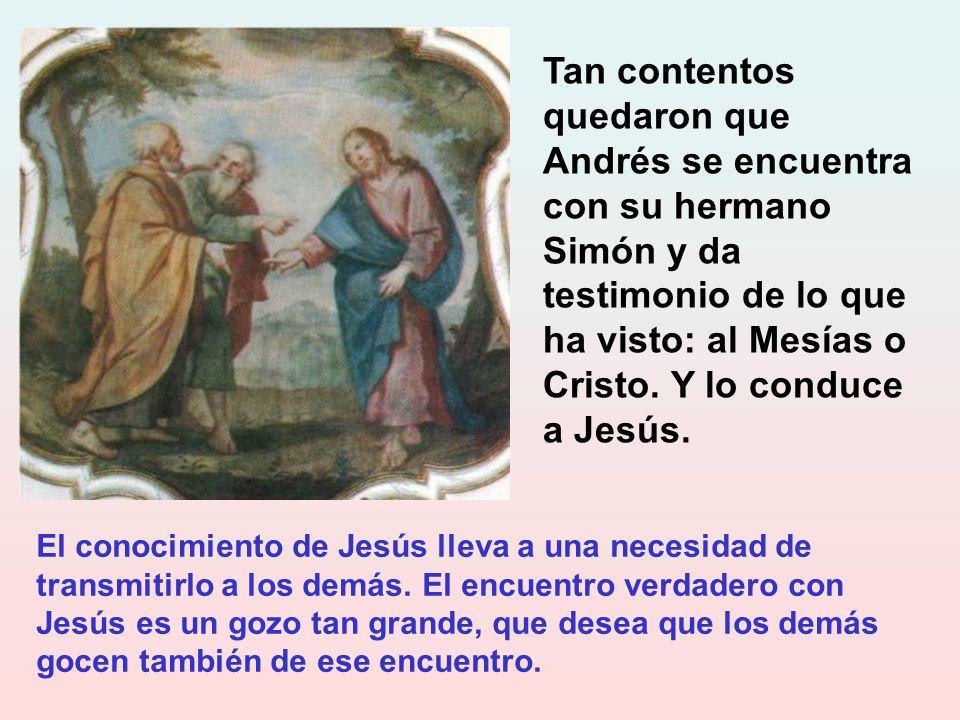 Tan importante fue este encuentro con Jesucristo, que san Juan, que lo narra, se acuerda hasta de la hora. Se le quedó grabada esa hora del primer enc