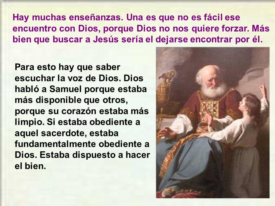 En aquellos días, Samuel estaba acostado en el templo del Señor, donde estaba el arca de Dios. El Señor llamó a Samuel, y él respondió: