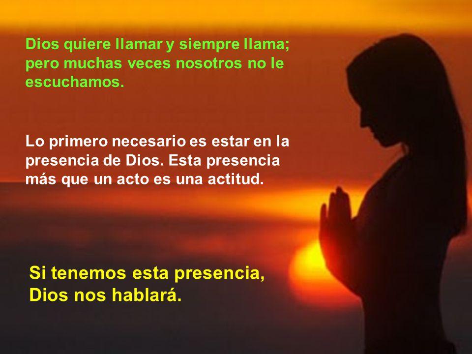 Muchas veces no es fácil conocer la voz de Dios.
