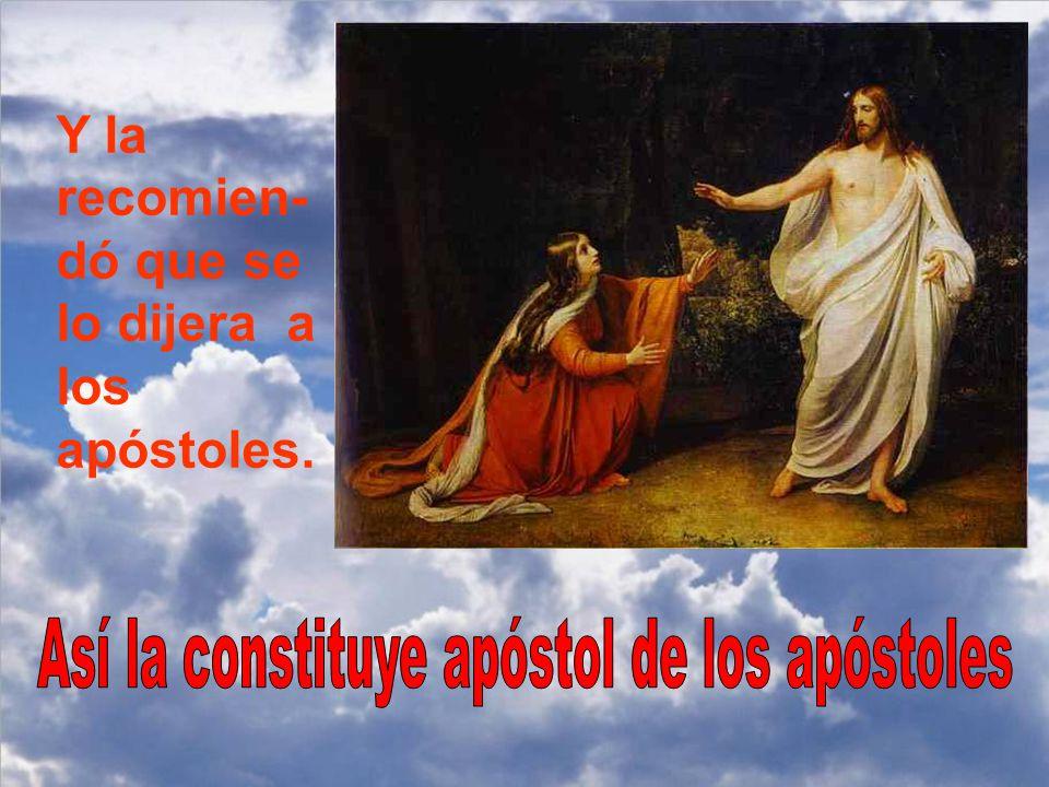 Jesús le dice: Suéltame, que todavía no he subido al Padre