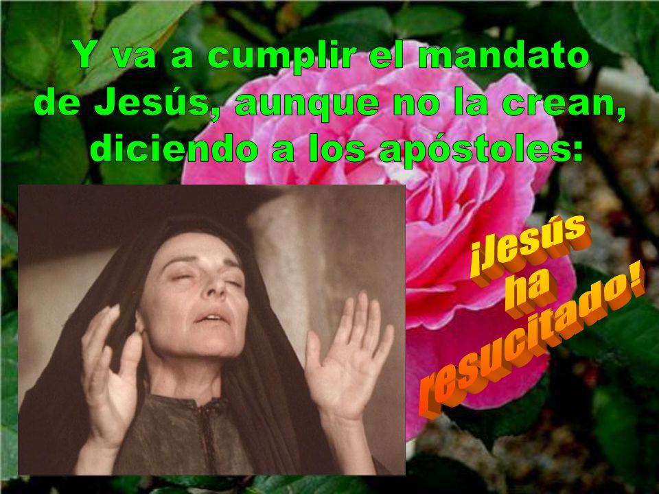 Jesús ha ido presentándose poco a poco, para ir acrecentando la fuerza del amor. Ahora ya María Magdalena está enteramente entregada a la voluntad de