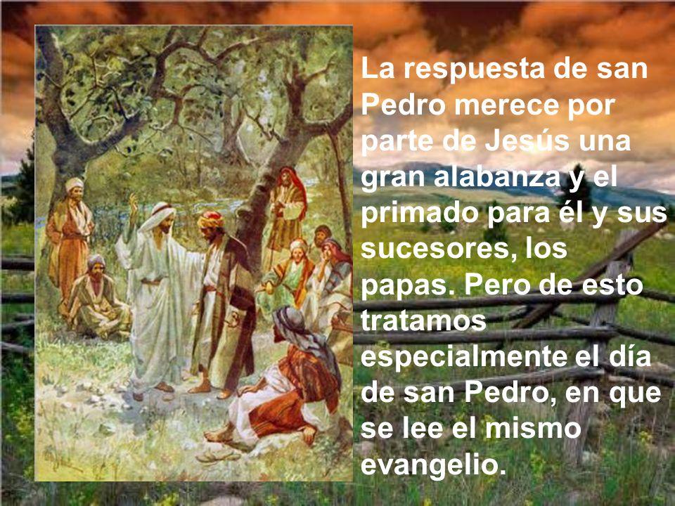 En aquel tiempo, al llegar a la región de Cesarea de Filipo, Jesús preguntó a sus discípulos: