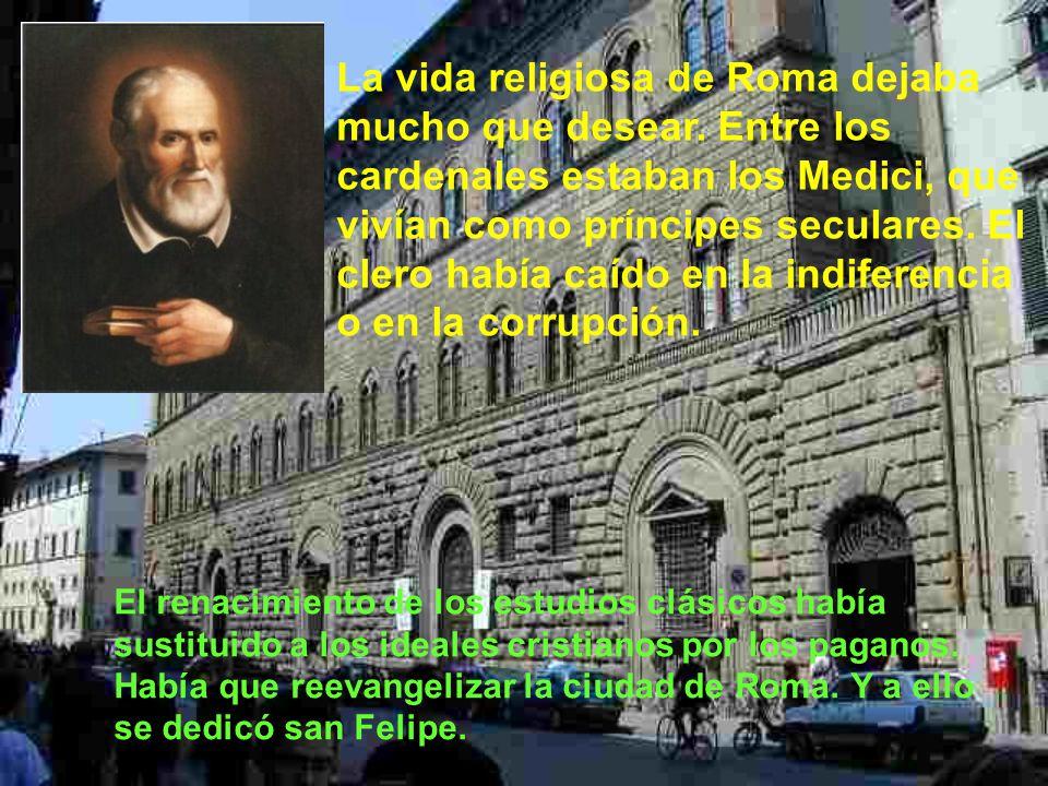 A los dos años quiso comenzar Felipe los estudios de filosofía y teología en la Sapienza y en Sant´Agostino, aunque le costaba concentrarse en los estudios, pues su mente quedaba absorta en el amor de Dios.