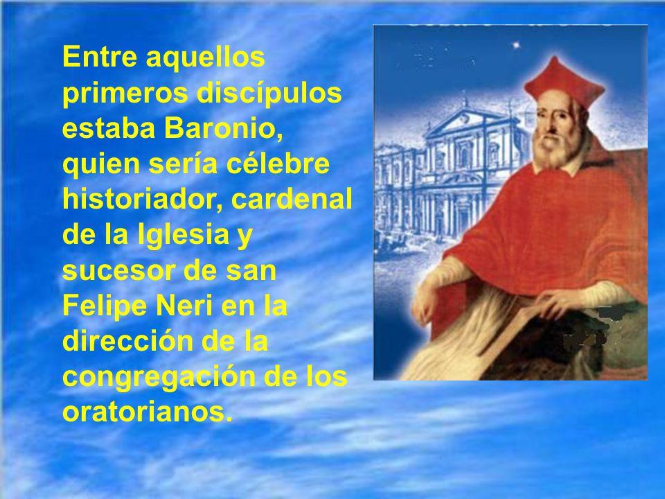 De aquí salió la congregación del oratorio (o los oratorianos) En 1564 el papa Pío IV pidió a san Felipe que se hiciera responsable de esta iglesia de san Juan de los florentinos.