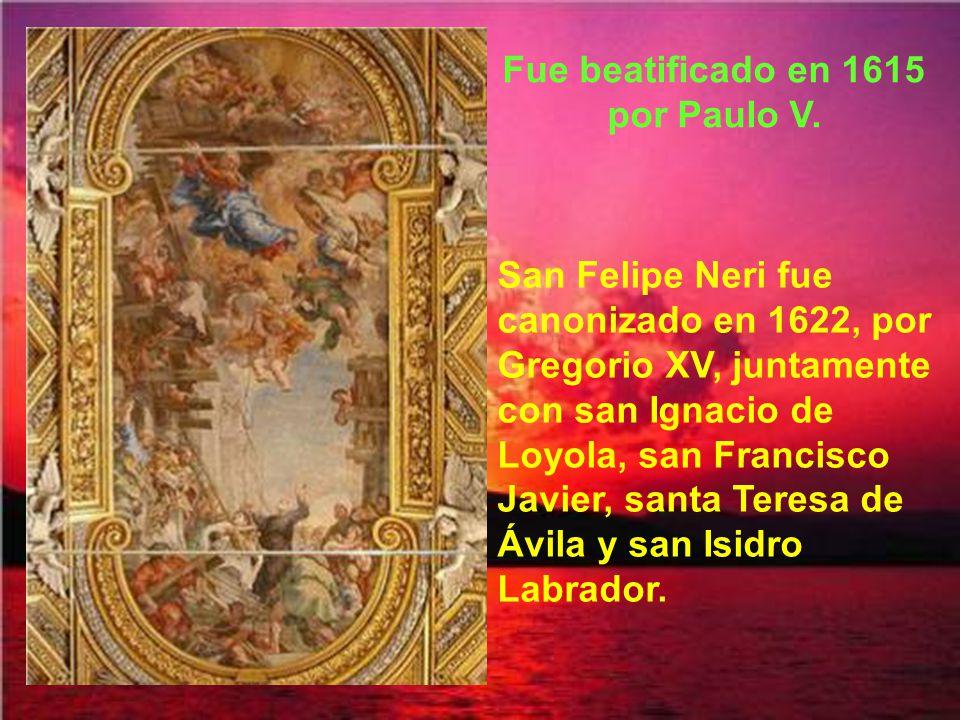 El cuerpo incorrupto de san Felipe Neri está en la iglesia de Santa María en Vallicella (la Chiesa Nuova), bajo un hermoso cuadro de su visión de la Virgen María.
