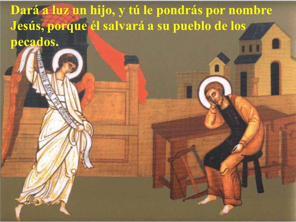 José, hijo de David, no tengas reparo en llevarte a María, tu mujer, porque la criatura que hay en ella viene del Espíritu Santo.