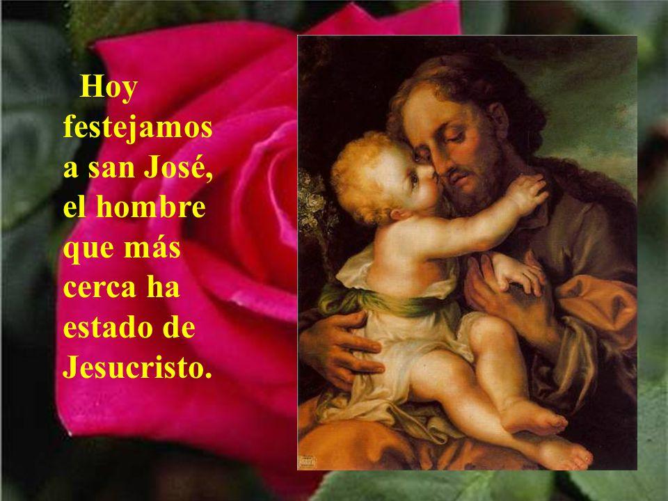 Buenos días, san José, con tu vara y con tu Niño, te saludo con cariño, aquí postrado a tus pies.