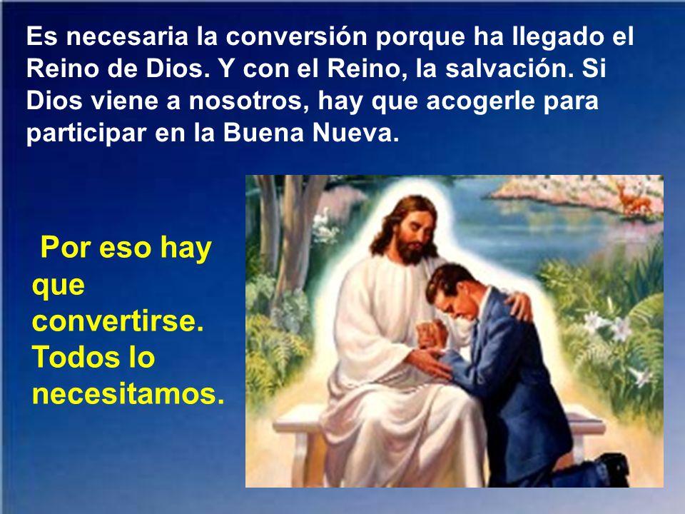 Se ha cumplido el plazo, está cerca el reino de Dios: convertíos y creed en el Evangelio. Este es el primer mensaje de Jesús según san Marcos.