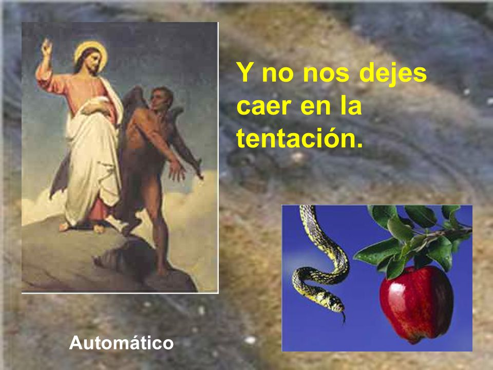 Y especialmente la que nos enseñó Jesús en el Padrenuestro: No nos dejes caer en la tentación y líbranos del mal.