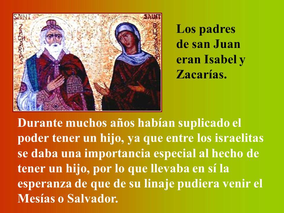 En verdad Dios había derramado su misericordia sobre aquellos padres, Zacarías e Isabel.