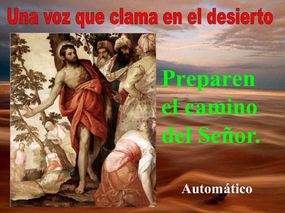 Terminemos recordando la vocación de san Juan Bautista: